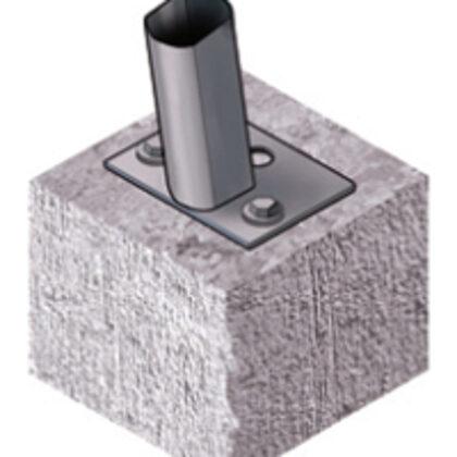 Enkurojoums pie betona pamatnes